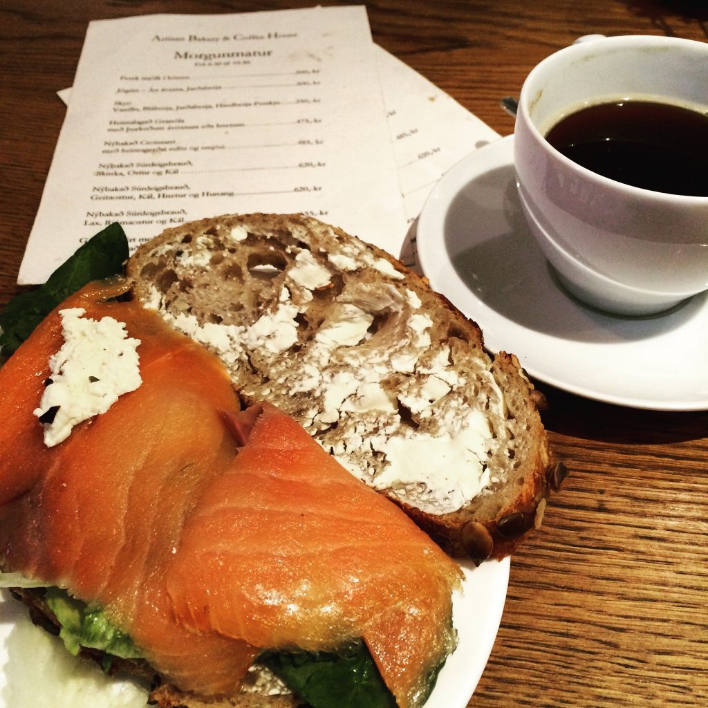 salmon and sourdough, iceland