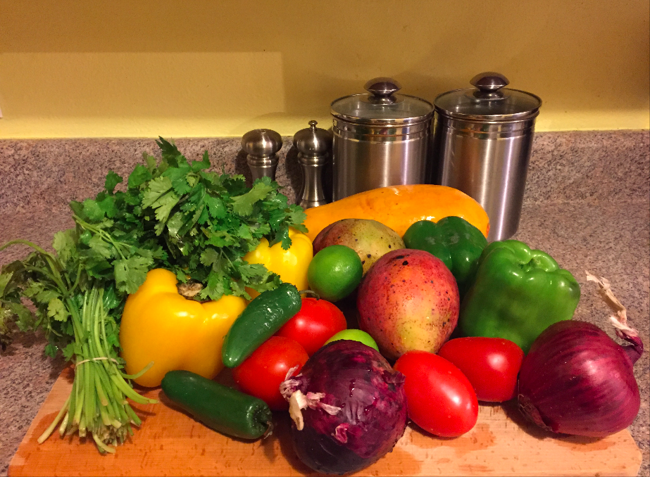 fresh summer fruits and veggies