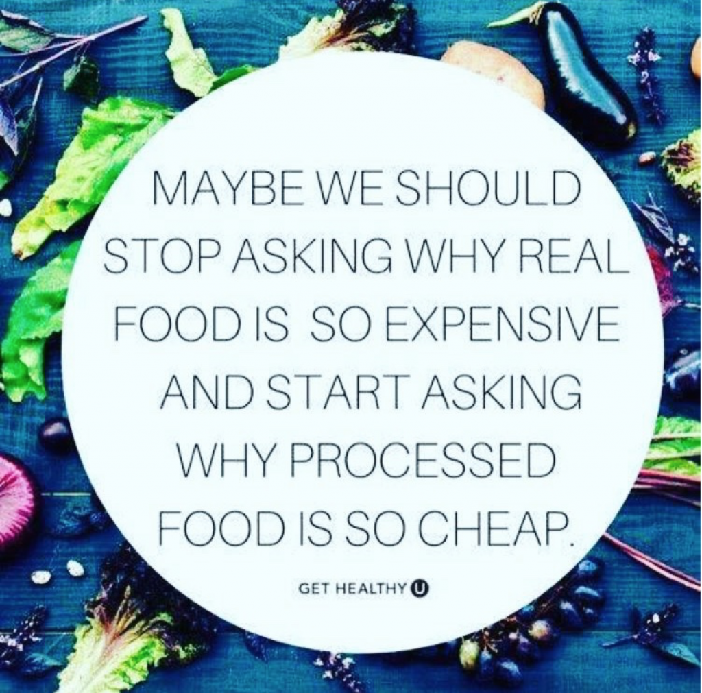 why is processed food so cheap