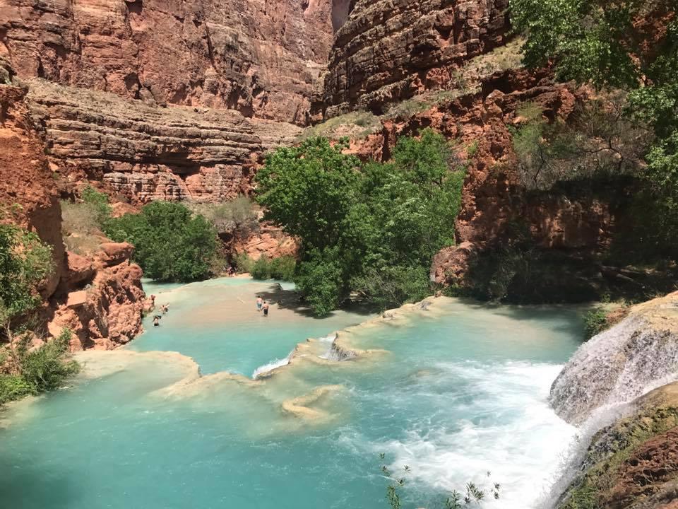 blue waters at beaver falls